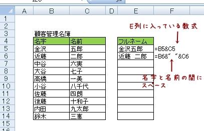 Excel便利な数式【別々のセルに入っている二つの文字を繋げたい】