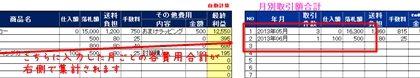 無料配信Excelテンプレート【オークション売上管理表、収支管理表】